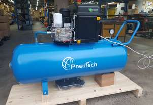 Pneutech Compact Series 4hp (3kW) Rotary Screw Air Compressor, Tank Mounted
