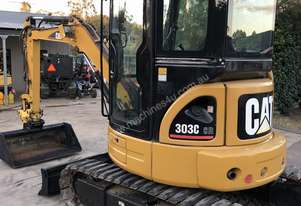 Cat 303C CR 3.5T Excavator Enclosed Cab New Rubber Pads