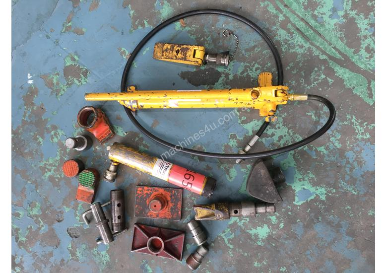 Enerpac Hydraulic Porta Power Kit Hand Pump Ram & Spreader, Industrial Quality Tools