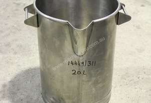 Fallsdell Machinery Stainless Steel Bucket