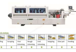 NANXING Touch Screen 3 speed Automatic Edgebander NBC332  with separate Corner Rounding Machine
