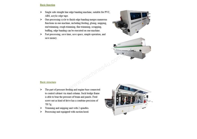 NANXING Touch Screen 3 speed Automatic Edgebander NBC332  with one Corner Rounding Machine