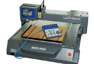 EGX 400 Roland Engraver with extraction cover and air lube delivery