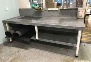 2 Tier Metal Workbench With Mounted Vice