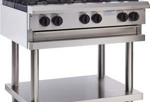 6 Burner Cooktop with flame failure, legs & shelf