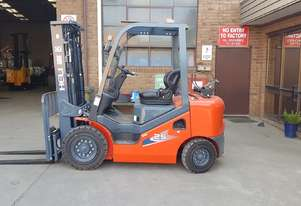 New 2500kg Heli Dual Fuel Container Mast Forklift Order now new stock arriving soon.