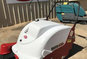 3 Used Brava 1000E Battery Powered Walk Behind industrial Sweepers available from  $ 5,000 + GST