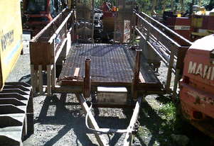 3ton plant trailer , electric brakes , ramps ,