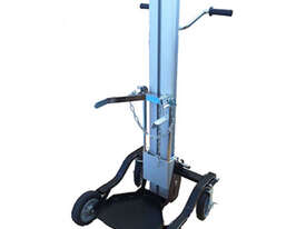 Lift Trolley-100/125kg-1200mm Lift-Gas Bottle Attach-2x220 & 200 Brake - picture0' - Click to enlarge