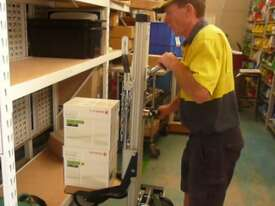 Lift Trolley-100/125kg-1200mm Lift-Gas Bottle Attach-2x220 & 200 Brake - picture1' - Click to enlarge