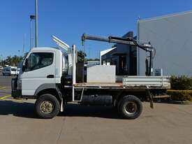 2010 MITSUBISHI FUSO CANTER Tray Truck - 4X4 - Truck Mounted Crane - Tray Top Drop Sides - picture0' - Click to enlarge