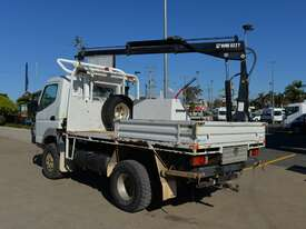2010 MITSUBISHI FUSO CANTER Tray Truck - 4X4 - Truck Mounted Crane - Tray Top Drop Sides - picture1' - Click to enlarge