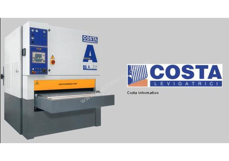 Costa A Series Wide Belt Sanders and planer sanders with variable working heights