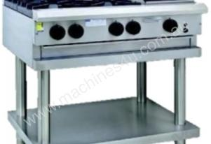 Luus CS-4B3C - 4 Burners, 300 BBQ & Shelf