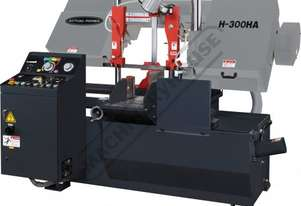 H-300HA-NC NC Double Column Metal Cutting Band Saw - Automatic Hitch Feed 300 x 300mm (W x H) Rectan