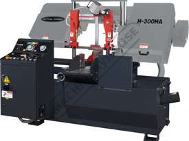 H-300HA-NC NC Double Column Metal Cutting Band Saw - Automatic Hitch Feed 300 x 300mm (W x H) Rectan - picture0' - Click to enlarge
