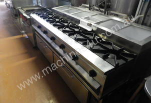 Custom Built Gas Stove, Salad Bar, Refrigerator