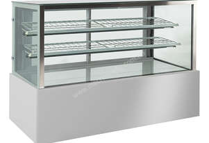 F.E.D. CS-1200R2 Bonvue Chilled Square Glass Stainless Steel 3 Levels Food Display