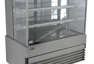 Koldtech KT.SQRCD.18.4T Square Glass Refrigerated Cake Display 4 Fixed Shelves - 1800mm