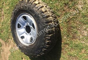 Landcruiser wheel and tyre for sale