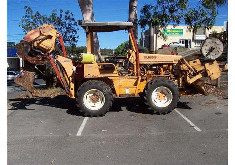 8020 trencher / plow , front reel carrier