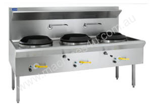 Luus Model WL-3C Waterless Wok 3 Chimney Burners