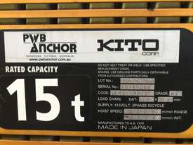 KITO-PWB ANCHOR Electric Chain Hoists.15Tand 20 T - picture4' - Click to enlarge