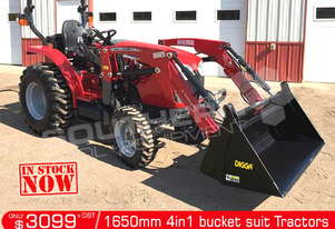 1650 mm 4 in 1 Bucket suit Tractor Front End Loader ATT4IN1