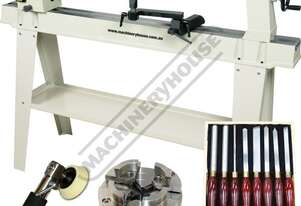 WL-20 Swivel Head Wood Lathe & Tooling Package Deal Ø370mm Swing x 1100mm Between Centres Includes