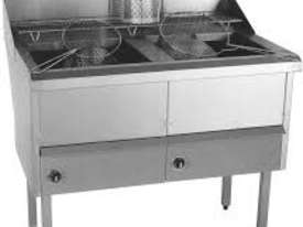 Complete WFS-3/18 Three Pan Fish and Chips Deep Fryer - 20 Liter Capacity Per Pan - picture1' - Click to enlarge