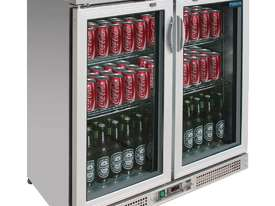 Polar CE206-A - Bar Display Cooler Stainless Steel Double Hinged Doors - picture0' - Click to enlarge