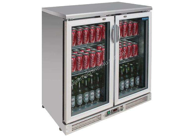 Polar CE206-A - Bar Display Cooler Stainless Steel Double Hinged Doors