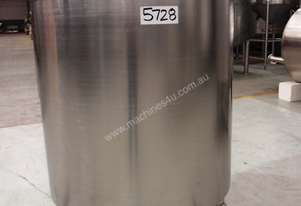 Stainless Steel Jacketed Tank, Capacity: 1,000Lt