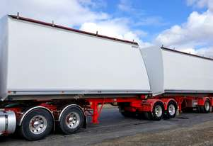 2008 Byford BFN Tandem Axle B Double Tipper Trailer Set