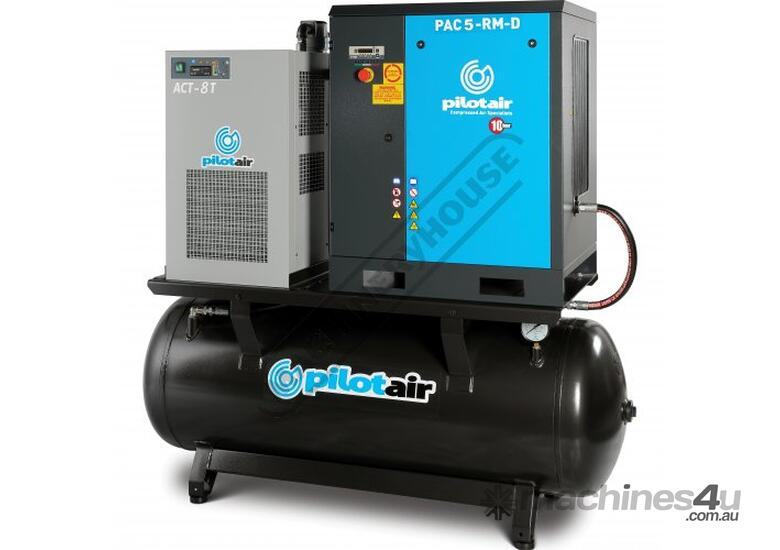PAC5-RM-D Rotary Screw Air Compressor 648L/Min. 22.9CFM  10 Bar Includes Integrated Air Dryer
