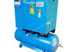 Pneutech 5.5hp Rotary Screw Air Compressor, Compressed Air Dryer, 270L Receiver - 5 YEAR WARRANTY
