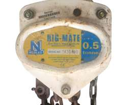 Nobles Rigmate Chain Hoist 0.5 Tonne x 6 metre chain 29686 - picture0' - Click to enlarge