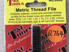 T & E Tools UNF / UNC Thread File No. 8008 - picture1' - Click to enlarge