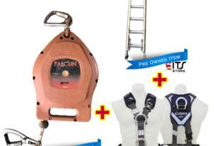 Oldfields Extension Ladder 6.4m, Exofit Safety Harness and Fall Arrestor