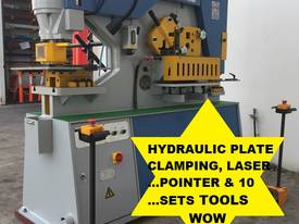 70Ton Twin Cylinder, Hydraulic Clamp & Laser Guide