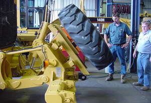 Grader Tyre Carrier - Rear Mounted with Winch