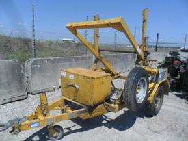 1.5 ton cable drum trailer with drum drive  - picture0' - Click to enlarge