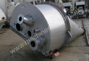 Conical S/Steel Powder Hopper Capacity 1.8Cu Mt.