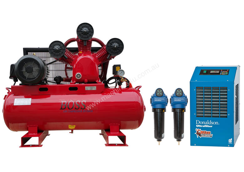 BOSS 35CFM Compressor with Dryer & Filter Package