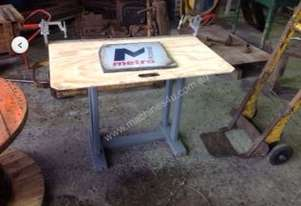 Coffee table made from monorail objects