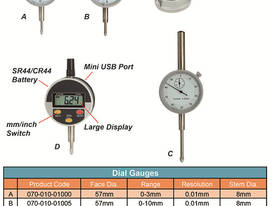 0-3mm x 0.01 Dial Gauge - Back Lug - picture1' - Click to enlarge