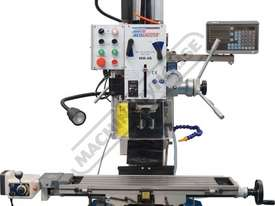 HM-48 Mill Drill - Geared & Tilting Head with DRO (X) 540mm (Y) 185mm (Z) 410mm Includes Digital Rea - picture6' - Click to enlarge