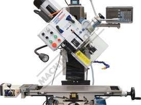 HM-48 Mill Drill - Geared & Tilting Head with DRO (X) 540mm (Y) 185mm (Z) 410mm Includes Digital Rea - picture11' - Click to enlarge