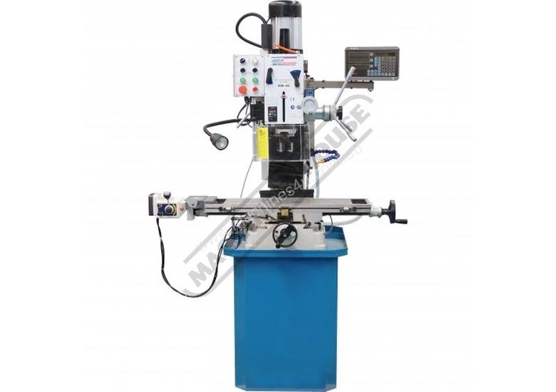 HM-48 Mill Drill - Geared & Tilting Head with DRO (X) 540mm (Y) 185mm (Z) 410mm Includes Digital Rea