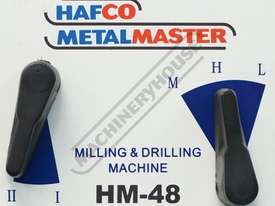 HM-48 Mill Drill - Geared & Tilting Head with Digital Readout System (X) 540mm (Y) 185mm (Z) 410mm I - picture16' - Click to enlarge